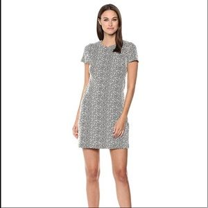 Calvin Klein Black and White Striped Shift Dress